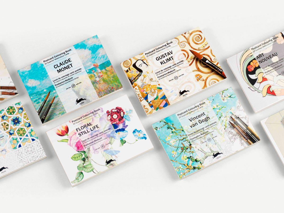 Postcard Colouring Books
